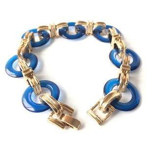 Rain Bloom Blue Link Bracelet